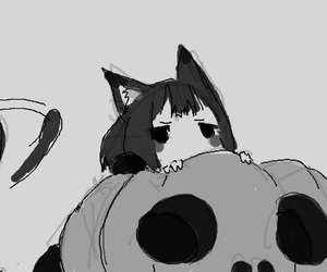 anime, cute, and cat image