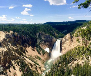 nature, travel, and yellowstone national park image