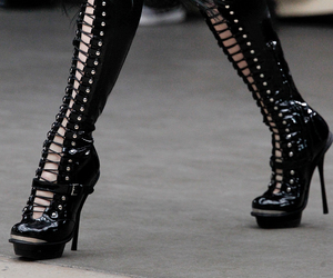 fashion, Alexander McQueen, and boots image