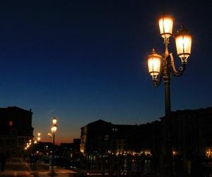 city, twilight, and lights image