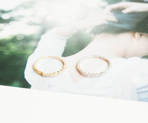 thumb ring, gold rings, and unique ring image