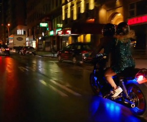 dare, motorcycle, and neon lights image