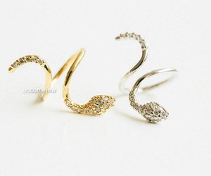 snake ring, thumb ring, and gold rings image