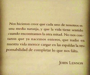 john lennon, frases, and quote image