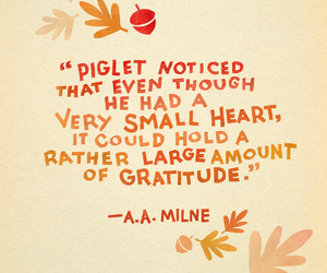 gratitude, piglet, and quote image