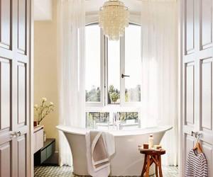 bathroom, luxury, and bathtub image