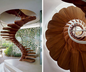 spiral wood stairs image