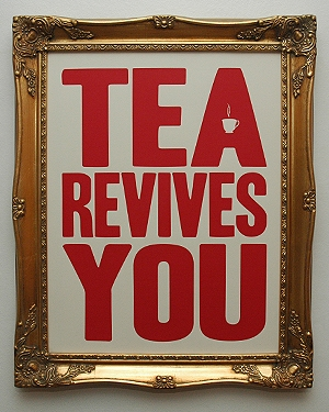 tea, poster, and typography image