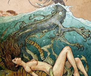 dragon, tiger, and water image