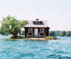 house, Island, and water image