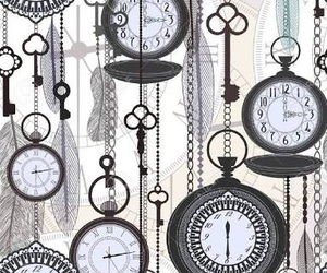 clock, wallpaper, and colours image