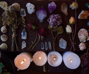 witch, crystal, and candle image