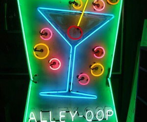 green, neon, and neon sign image