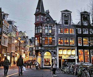 city, amsterdam, and building image