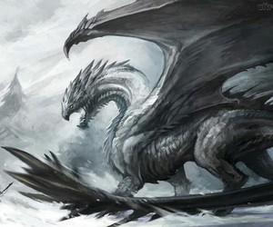 black, dragon, and scary image