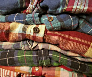 shirt, autumn, and flannel image