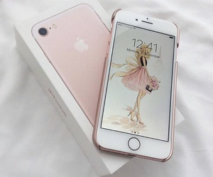 apple, glamorous, and pink image