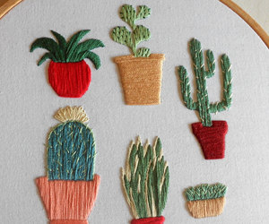 etsy, succulent plants, and hand embroidery image