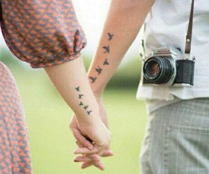 love, tattoo, and bird image