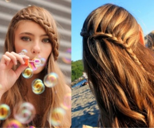 bubbles, girl, and hair image