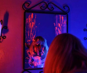 aesthetic, mirror, and blue image