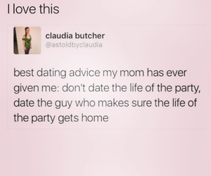 dating advice, life, and party image