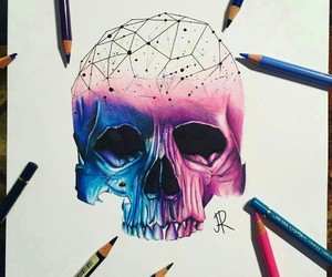 color, draw, and skull image