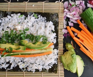 dinner and sushi image