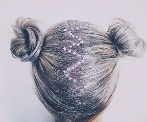 hair, glitter, and girl image