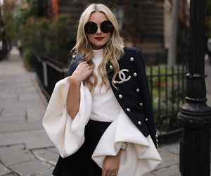 blogger, coat, and skirt image