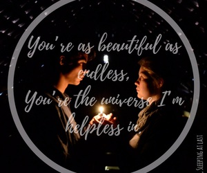 beautiful, girl and boy, and Lyrics image