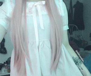 lace, pastel, and lolita image