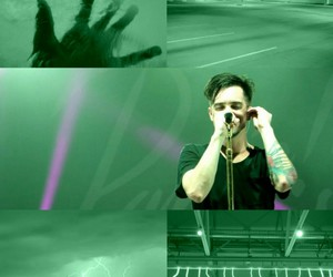 aesthetic, brendon urie, and green image