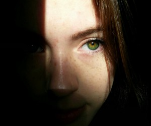 brown hair, eyebrows, and freckles image