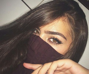 girl, makeup, and eyes image