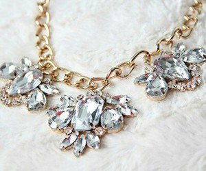 necklace, fashion, and diamond image