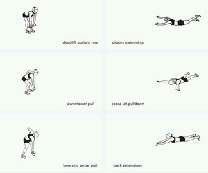 back, exercise, and fitness image
