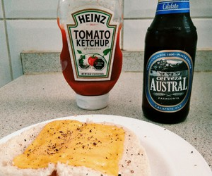beer, ketchup, and bread image