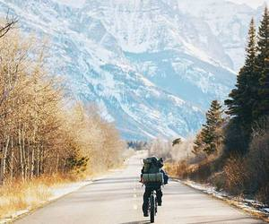 adventure, bicycle, and wild image