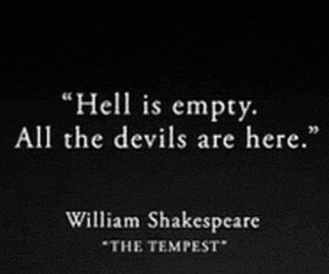 Devil, hell, and quote image