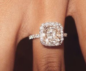 beautiful, engagement, and ring image