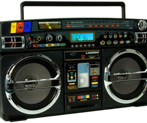 80s, ghettoblaster, and boombox image