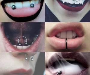 piercing and lips image