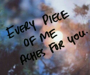 love, quotes, and ache image