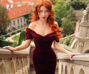 beauty, ginger hair, and red haired image