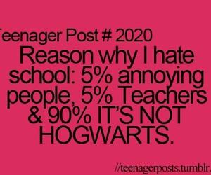 hogwarts, school, and harry potter image