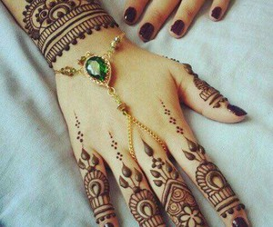 henna, tattoo, and mehndi image