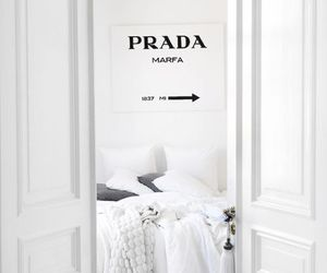 white, Prada, and bedroom image