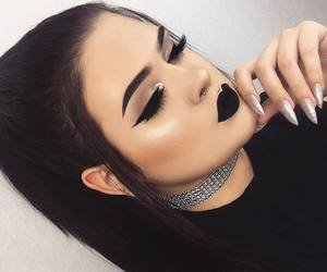 makeup, black, and lips image