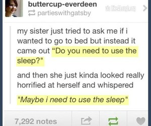 funny, sleep, and tumblr image